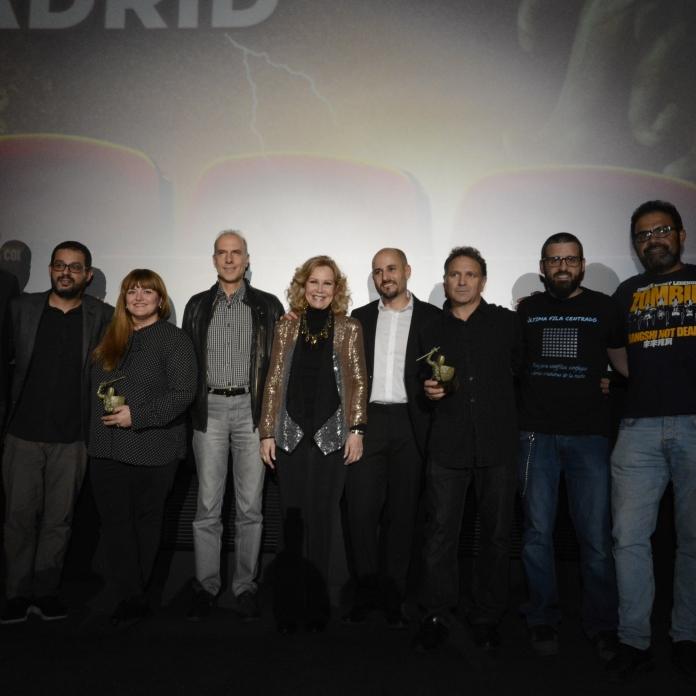Jurados y premiados con Don Mancini, Sergio Molina y José Luis Almemán.